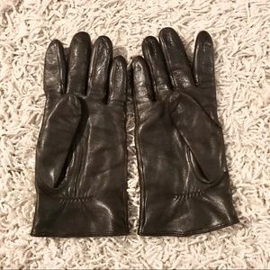 Accessories - Large Brown Real Leather Gloves